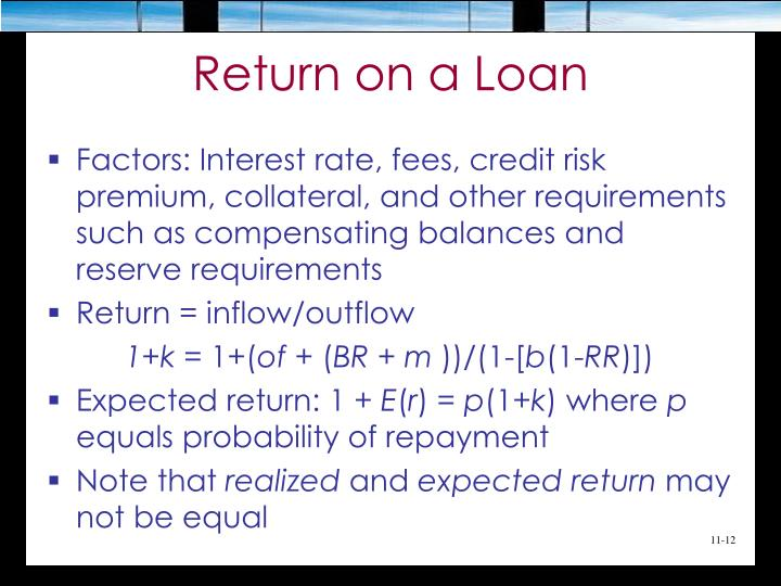 Return on a Loan