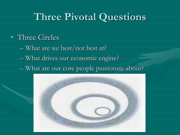 Three Pivotal Questions