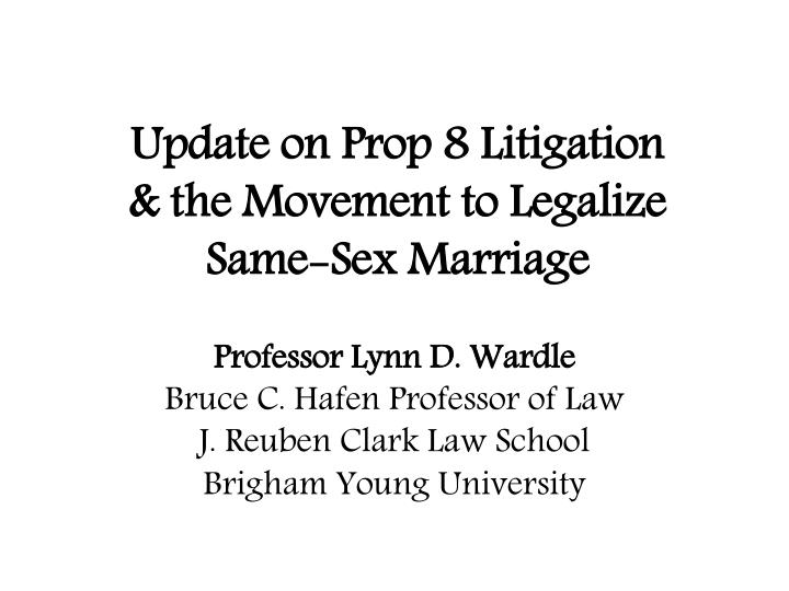 an introduction to the importance of legalizing same sex marriage More recently, iowa and vermont have legalized same-sex marriage  each of these important aspects of human life, in turn, can exist outside of marriage.