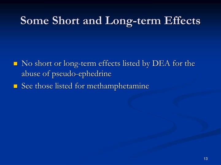 Some Short and Long-term Effects