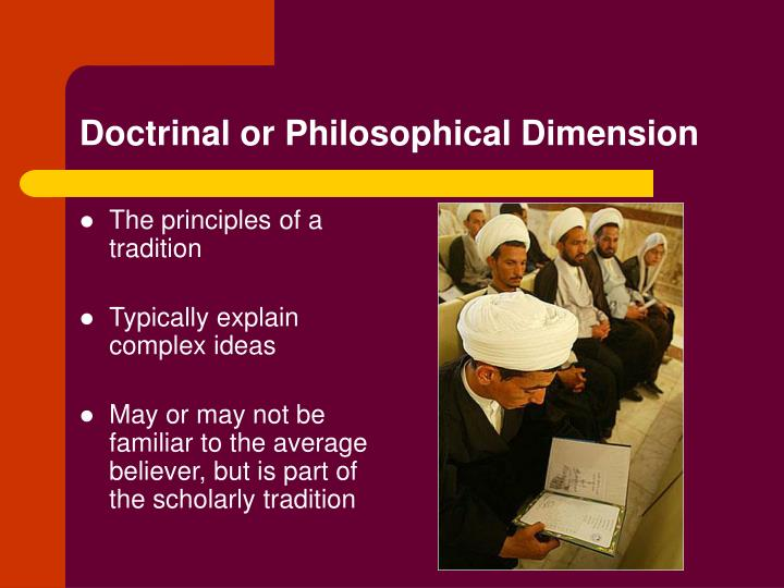 The principles of a tradition