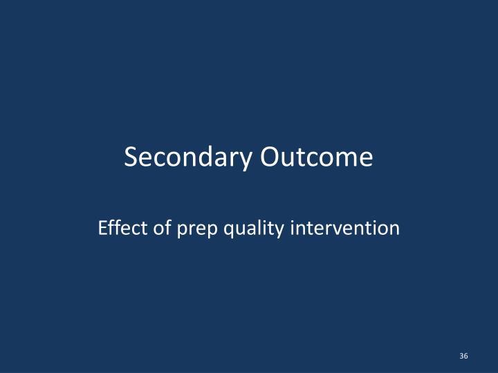 Secondary Outcome