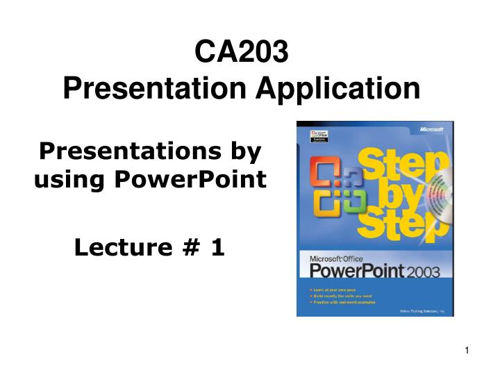 ca203 presentation application n.