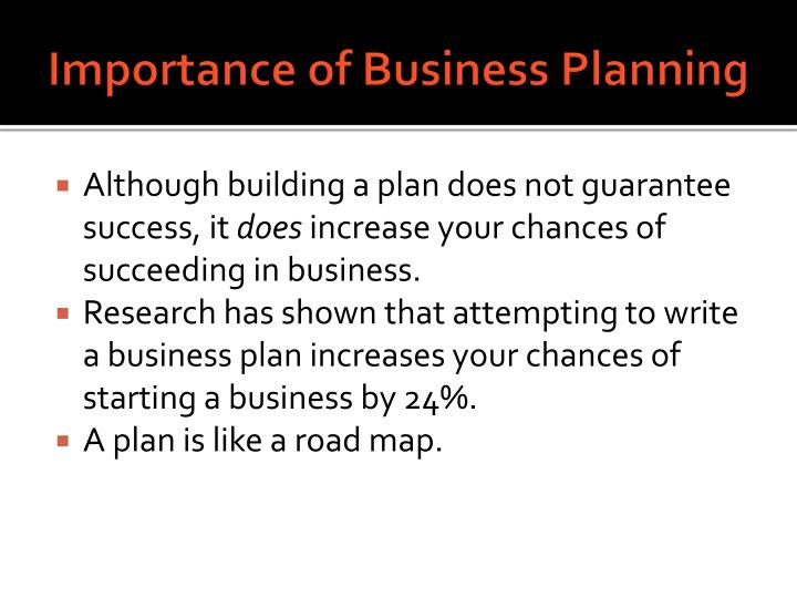 the importance of a business plan for a successful business Choosing a successful location for your business is location important for the success of your business you may have to rework your business plan.