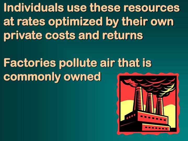 Marginal Valuation Natural Resources