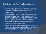 additional considerations1