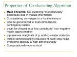 properties of co clustering algorithm