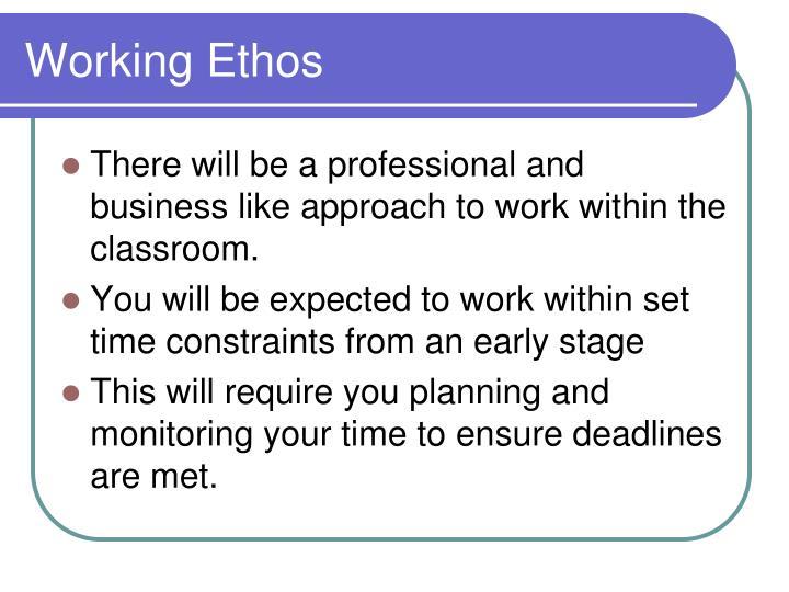 Working Ethos