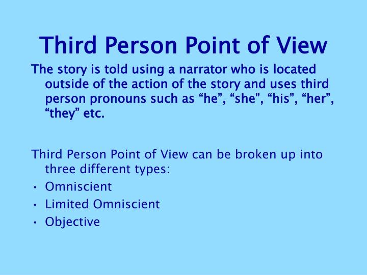 third person point of view thesis The writer must establish a connection, speak directly from a first-person, second-person, or third - person point of view structure - must have a clear and well-structured introduction, body, and conclusion, and a clear thesis.