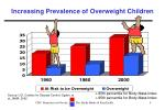 increasing prevalence of overweight children