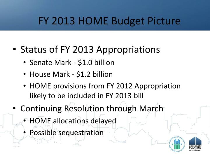 Fy 2013 home budget picture