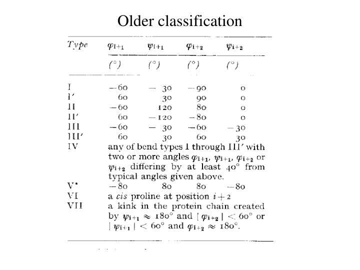 Older classification