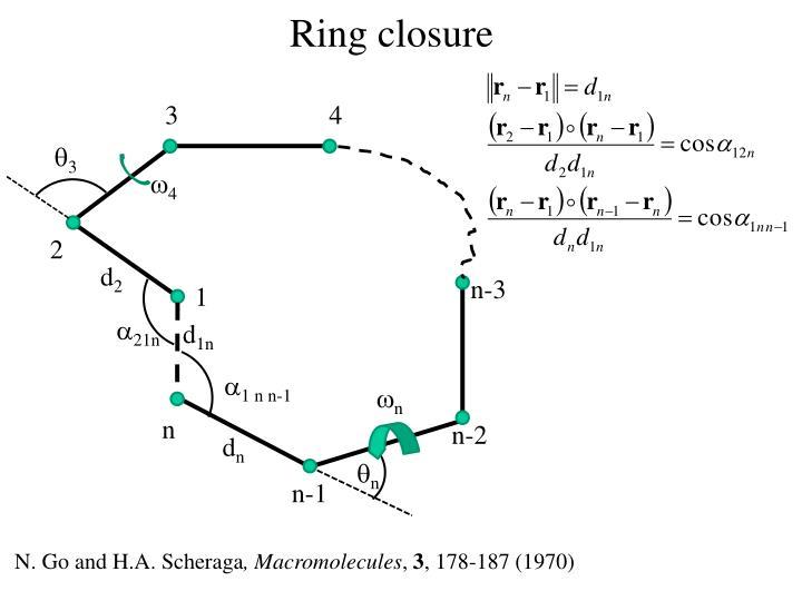 Ring closure