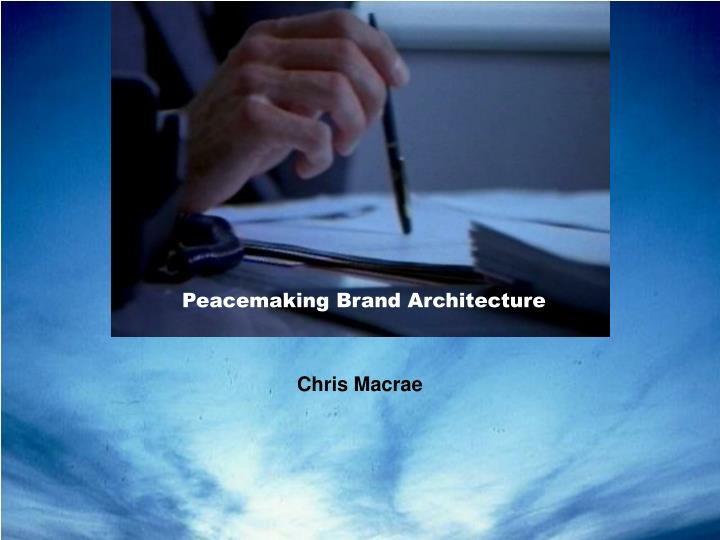 peacemaking brand architecture n.