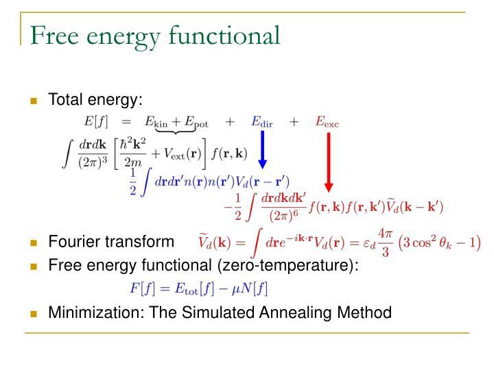 Free energy functional