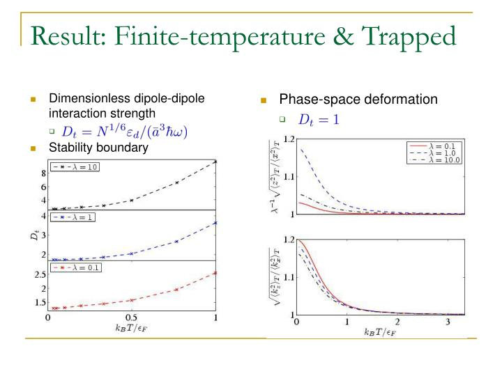 Dimensionless dipole-dipole interaction strength