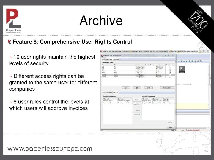 Feature 8: Comprehensive User Rights Control