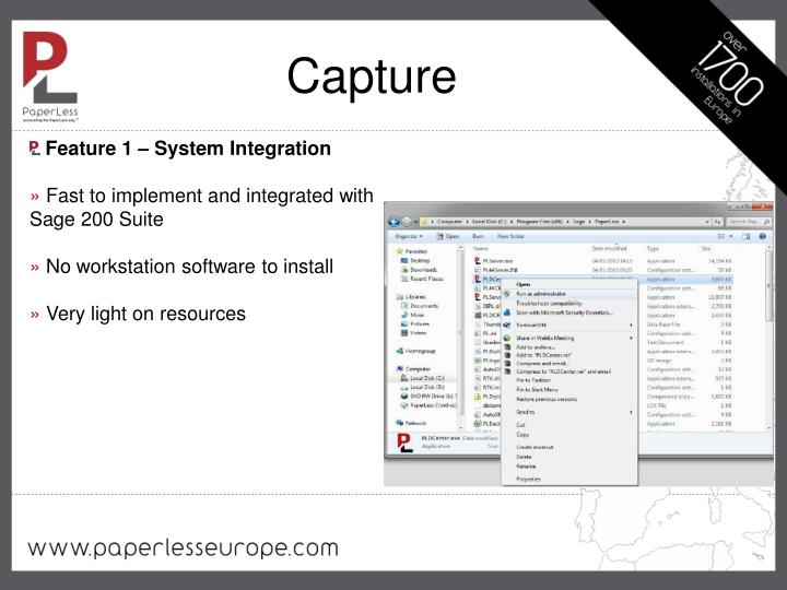Feature 1 – System Integration