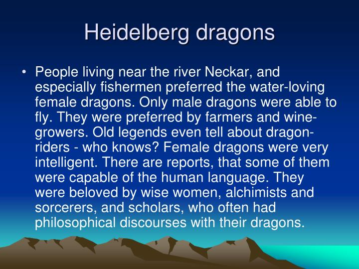 Heidelberg dragons