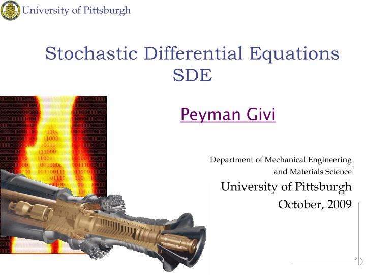 PPT - Stochastic Differential Equations SDE PowerPoint