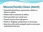 mascot family clown adult