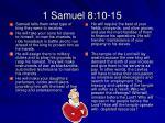 1 samuel 8 10 15