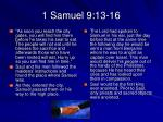 1 samuel 9 13 16