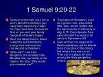 1 samuel 9 20 22