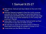 1 samuel 9 25 27