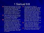 1 samuel 9 8
