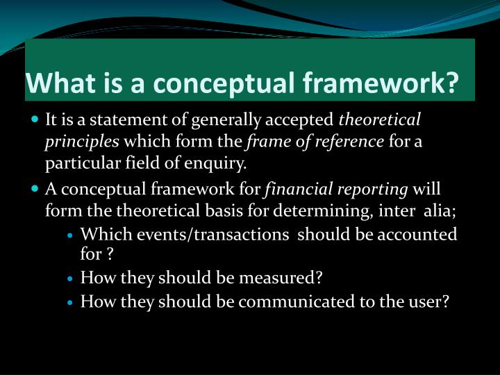 conceptual framework and statement of the Conceptual framework introduction this table lists only the latest version (by operative date) of each conceptual framework document, which may apply to future.