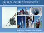 how do we know how much dust is in the ice