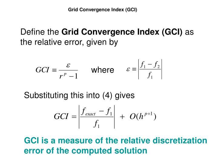 Grid Convergence Index (GCI)