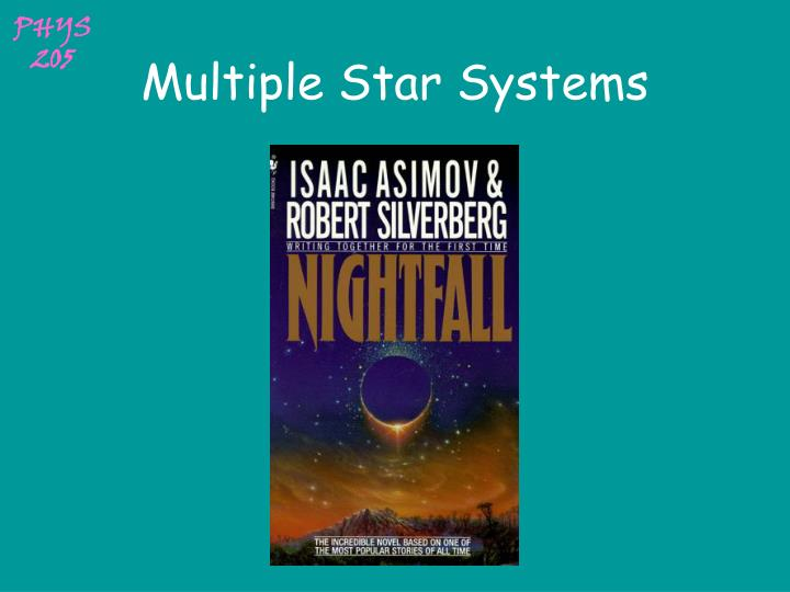 multiple star systems n.