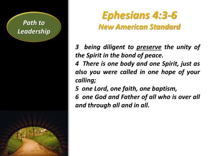 Ephesians 4 3 6 new american standard
