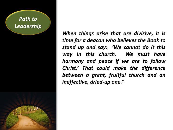Path to Leadership