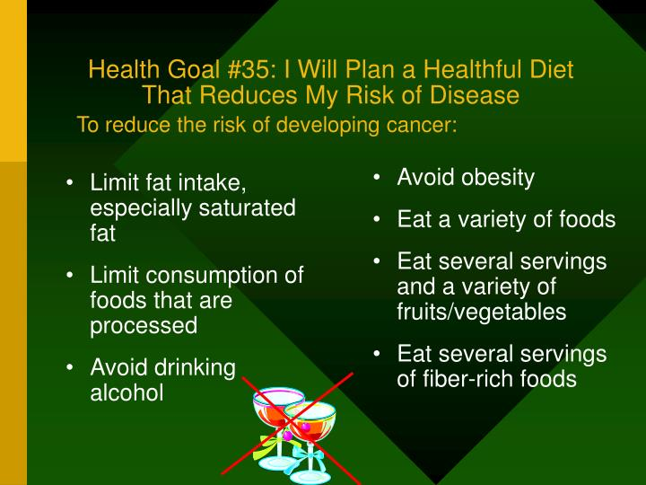 Avoid obesity