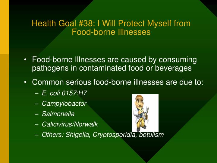 Health Goal #38: I Will Protect Myself from Food-borne Illnesses