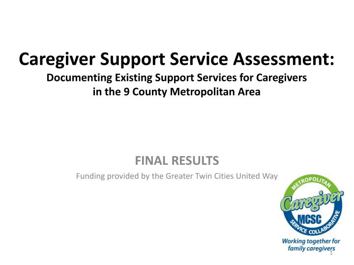 final results funding provided by the greater twin cities united way n.