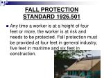 fall protection standard 1926 501