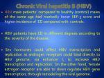 chronic viral hepatitis b hbv