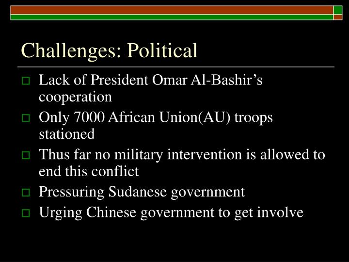 Challenges: Political