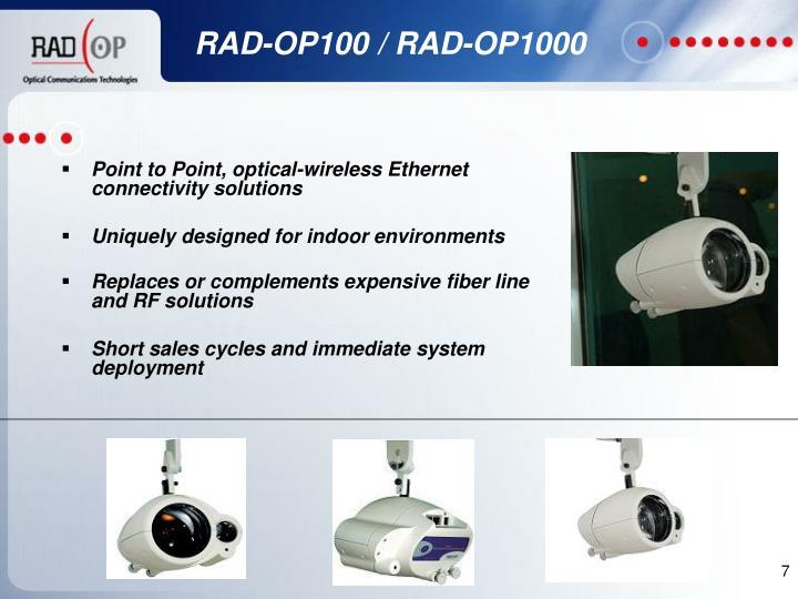RAD-OP100 / RAD-OP1000