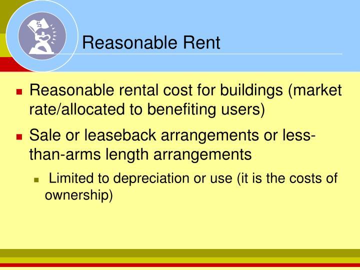 Reasonable Rent