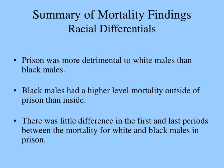Summary of Mortality Findings