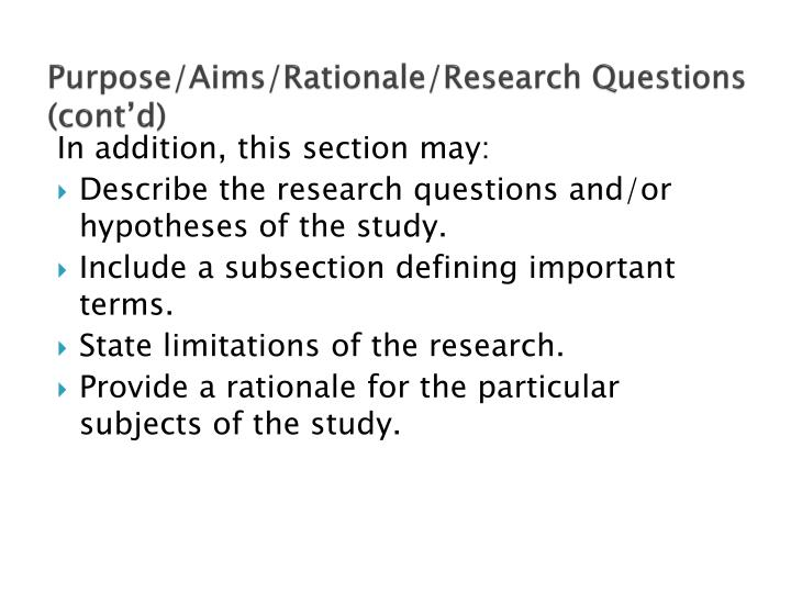 thesis rationale of the study Providing a rationale problem rationale is simply when you write your final version of the thesis or dissertation so readers will understand the stating the problem and its rationale stating the problem and its rationale 2 defining key terms how to write a thesis rationale of the study.