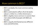 how common is bed