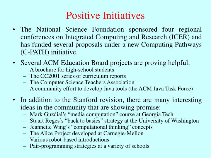 Positive Initiatives