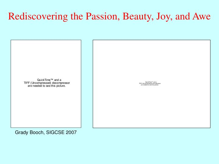 Rediscovering the Passion, Beauty, Joy, and Awe