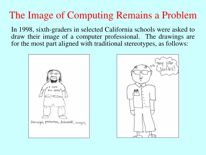 The Image of Computing Remains a Problem